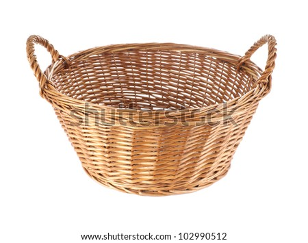 Basket isolated on white background - stock photo