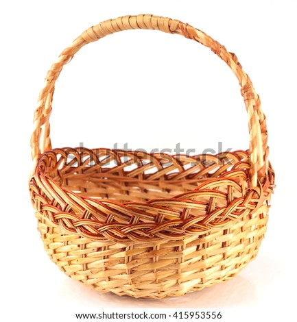 Basket isolated on white background