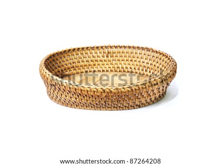 basket made from bamboo