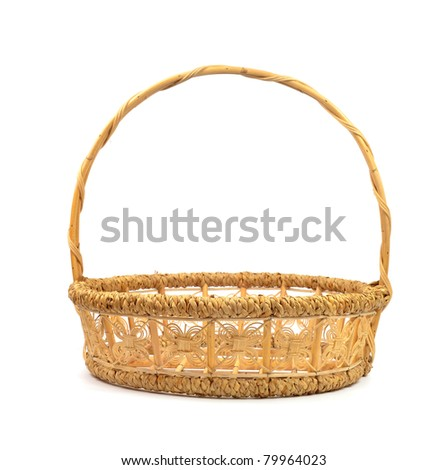 basket made from bamboo and reed