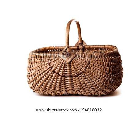 basket on a white background  - stock photo