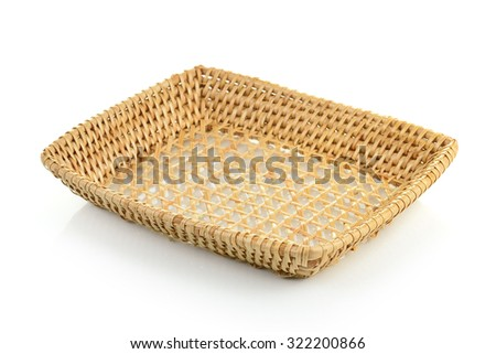 basket on white background