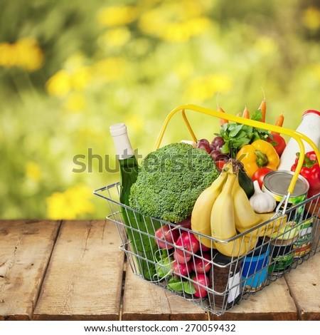 Basket. Shopping basket - stock photo