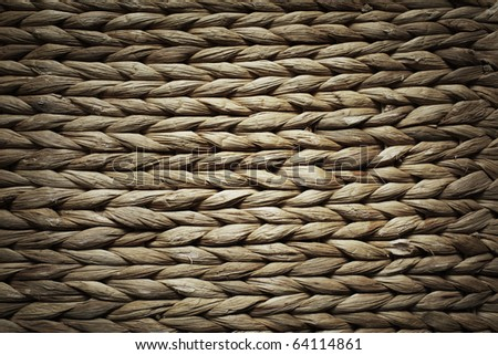 Basket texture background of brown wicker rings - stock photo