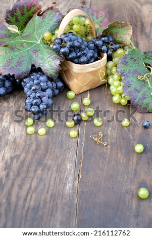 basket with grapes