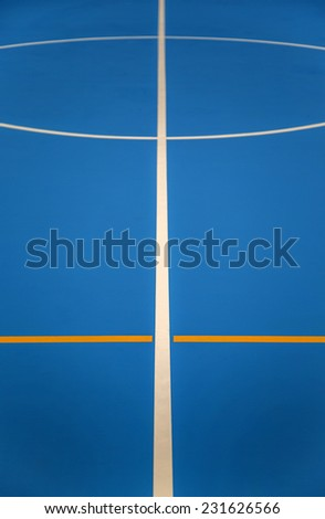 Basketball and football indoor playcourt