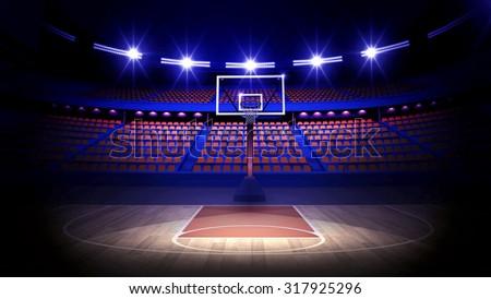 Basketball arena 3d render - stock photo