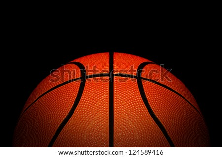 basketball association basket ball against black background good advertising concept with space for text - stock photo