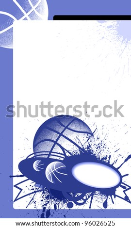 Basketball background with space (poster, web, leaflet, magazine) - stock photo