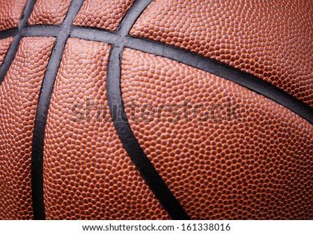Basketball ball background - stock photo