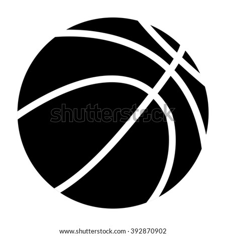 Basketball ball. icon.   illustration isolated on white background. Raster version