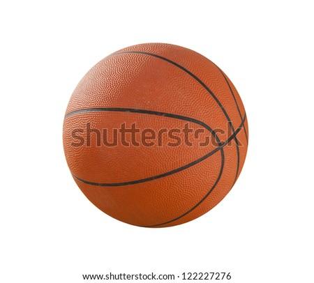 Basketball ball isolated on white background - stock photo
