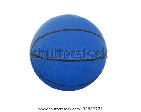 Basketball ball isolated on white background