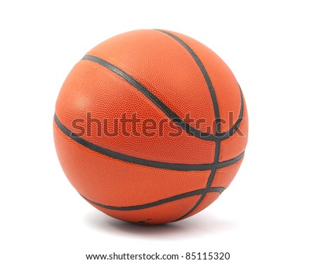basketball ball on a white background - stock photo