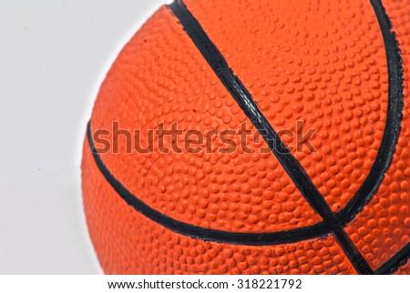 Basketball ball over white background - stock photo