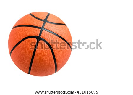 Basketball ball over white background. orange color Basketball isolated.  - stock photo