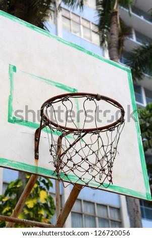 Basketball board - stock photo