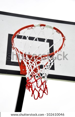 Basketball board on white background - stock photo