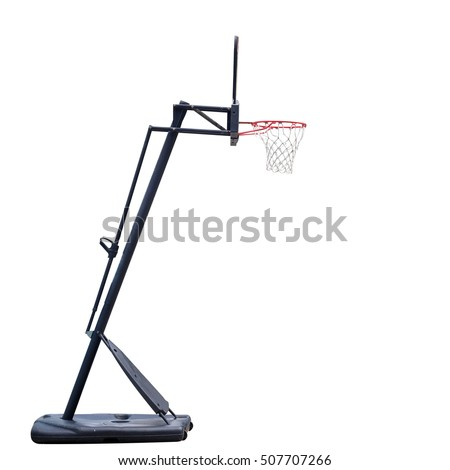 Basketball board on white background with clipping path.
