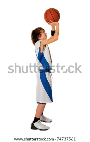 Basketball boy - stock photo