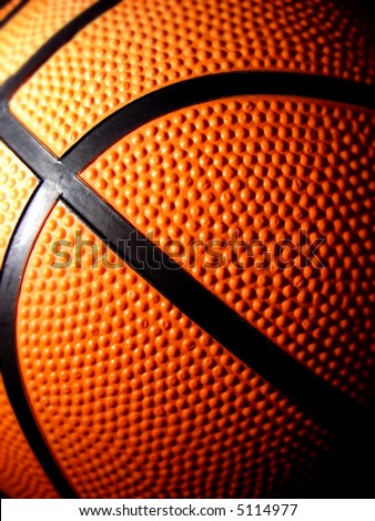 basketball close-up - stock photo