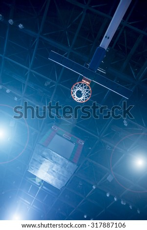Basketball Concept with spotlights - stock photo