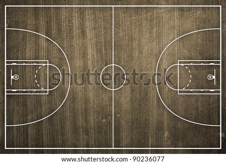 Stock images royalty free images vectors shutterstock for Basketball floor layout