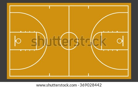 Basketball court. Realistic blackboard for strategy or tactic plan. - stock photo