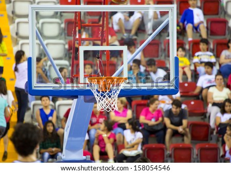 Basketball hoop cage - stock photo