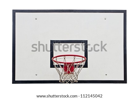 Basketball hoop on white background - stock photo