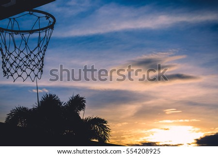 Basketball Hoop Silhouette Basketball Hoop Sunset Stock Photo 554208925 - Shutterstock
