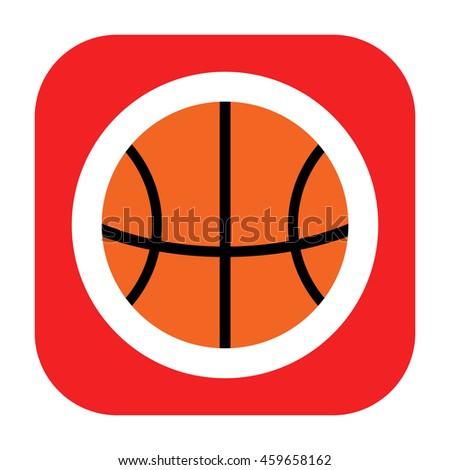 Basketball icon - stock photo