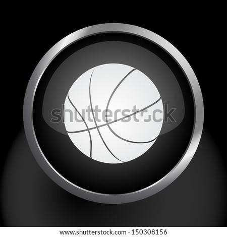 Basketball Icon Symbol. Raster version - stock photo