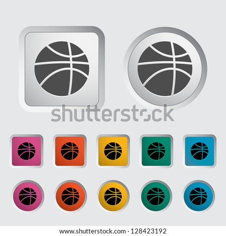 Basketball icon. Vector version also available in my portfolio. - stock photo