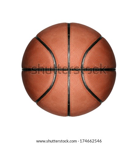 basketball isolated in white background  - stock photo