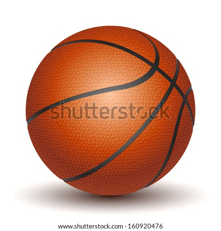 Basketball isolated on a white background. - stock photo