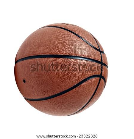 Basketball isolated on white background - stock photo