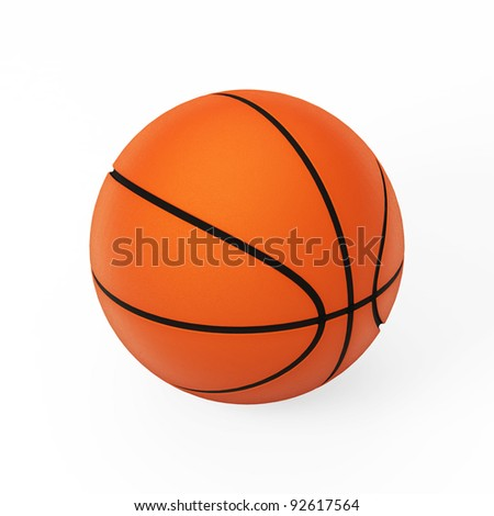 Basketball isolated on white 3d model - stock photo