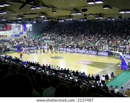 Basketball Match - stock photo