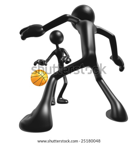 Basketball One On One - stock photo