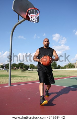 Basketball passer - stock photo