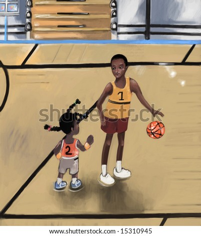 basketball (search the word nikos for more) - stock photo