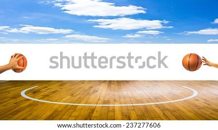 basketball sport game - stock photo