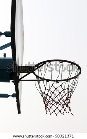 Basketball stand. - stock photo