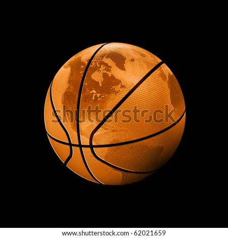 basketball world - stock photo