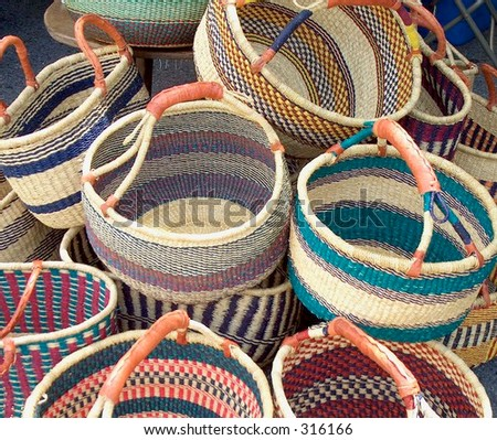 Baskets from central Africa