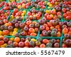 Baskets of Heirloom Cherry Tomatoes at Farmer's Market (6277) - stock photo