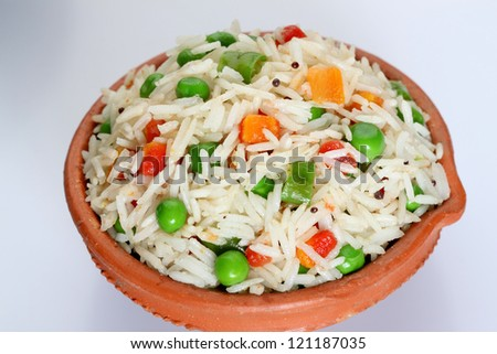 basmati,rice with vegetables,