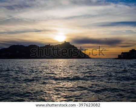 Basque country, Sant Sebastian, sunrise - stock photo