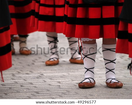 Basque folkloric dance dress detail - stock photo